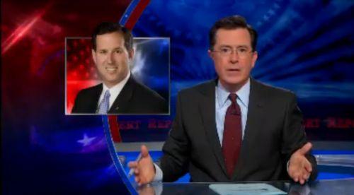 Ukázka z vysílání show The Colbert Report.