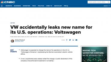 Některá média vzala informace o přejmenování automobilky vážně.