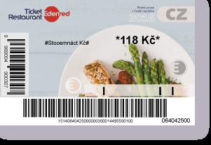 Papírová stravenka Ticket Restaurant platná do 31. prosince 2018.