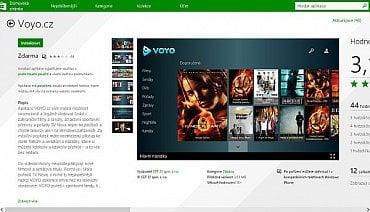 Aplikace Voyo je k nainstalování přes Windows Store. Jen se musíte registrovat, což pro běžný provoz Windows 8 není nutné.