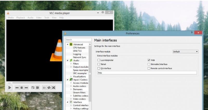 V programu VLC se nachází nepřeberná spousta možností konfigurace. Vám však stačí povolit rozhraní Web, přes které budete streamovat multimediální obsah z počítače do svého mobilního telefonu