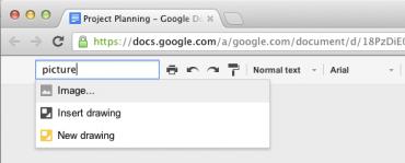 Google Docs kompaktní mód