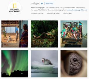 National Geographic na Instagramu. Rozhodně účet, který se vyplatí sledovat. Fantastické fotky, skvělá práce s Instagramem.