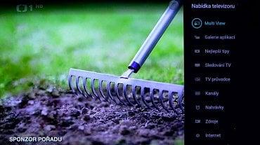 Dodatečné menu televizoru přes které například vyvoláte i PiP, tedy obraz v obraze (položka Multi View).