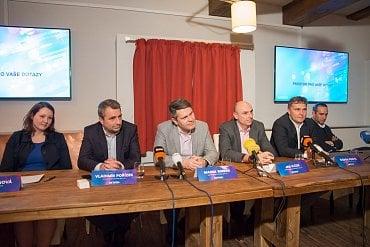 Tisková konference Asociace komerčních televizí.