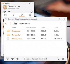 Seafile 4.0 s jednoduchým správcem souborů