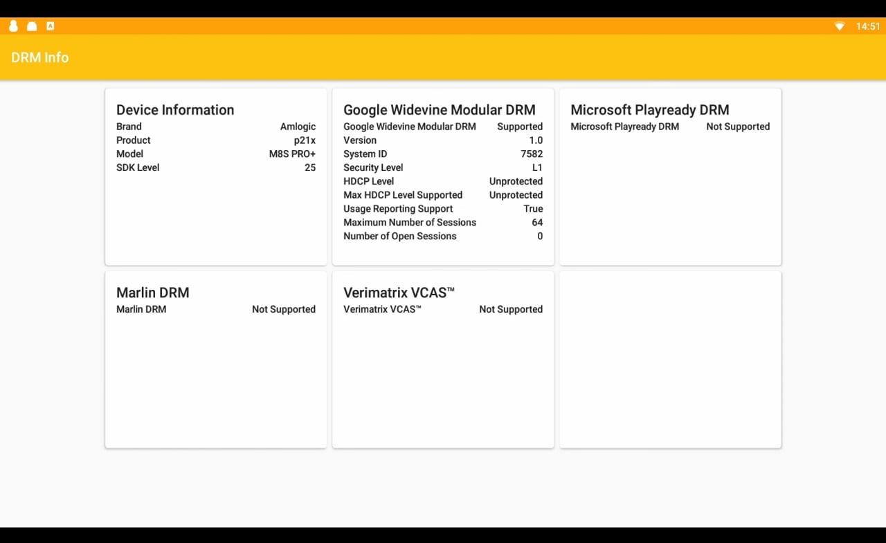 DRM info a ostatní benchmarky