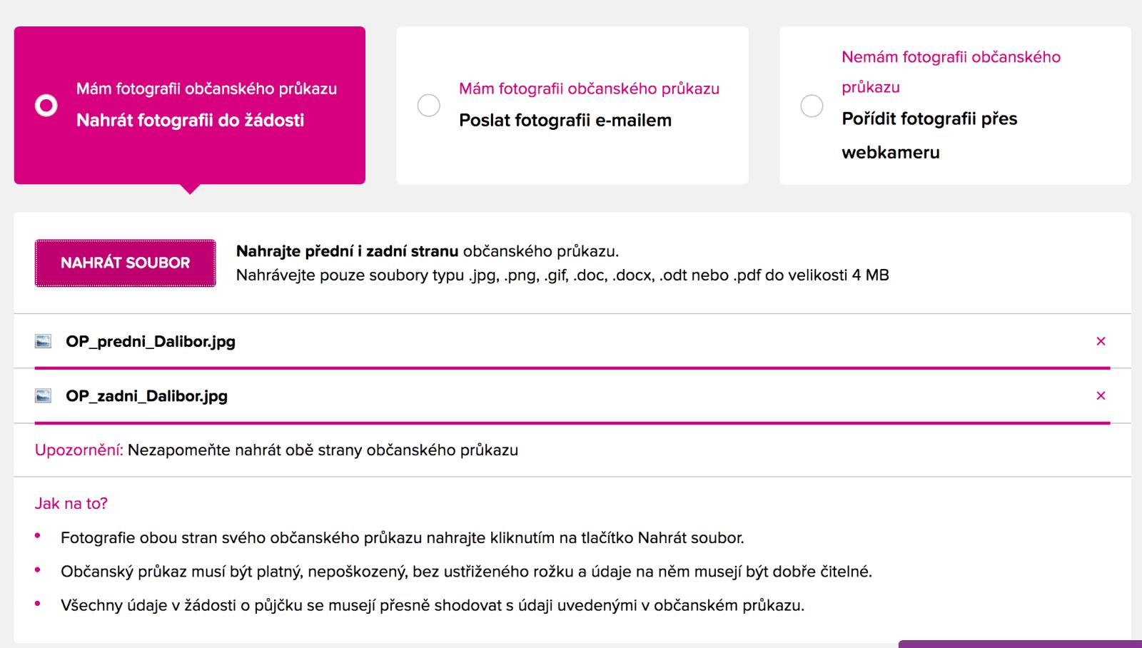 Pujcka online český těšín