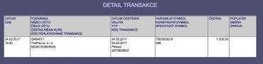Peníze byly na účtu za 2 minuty od oznámení o jejich vyplacení. Byly připsány v rámc stejné banky, v tomto případě Raiffeisenbank.