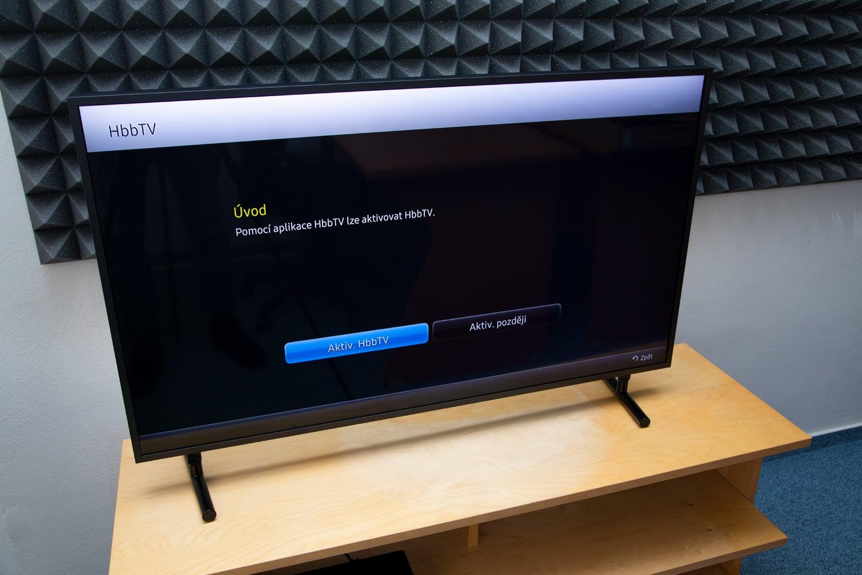 Samsung QE43LS03: HbbTV