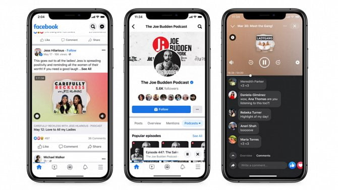 [aktualita] Facebook spustil Podcasty a hlasové chaty Live Audio Rooms