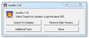 JavaRa - jednoduchá aktualizace JRE pro spouštění java aplikací