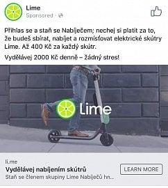 Kampaň Lime na sociálních sítích