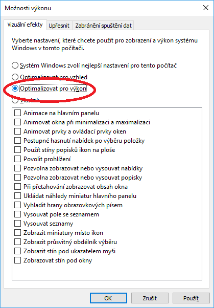 Operační systém Windows můžete zrychlit i tím, že vypnete používání speciálních efektů