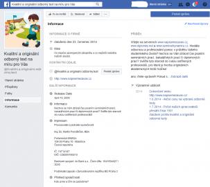 Facebooková stránka uvádí pana Pondělíčka se shodným IČO jako provozovatele a jednatele. Odkazuje navíc na dva další weby poskytující téměř totožné služby.