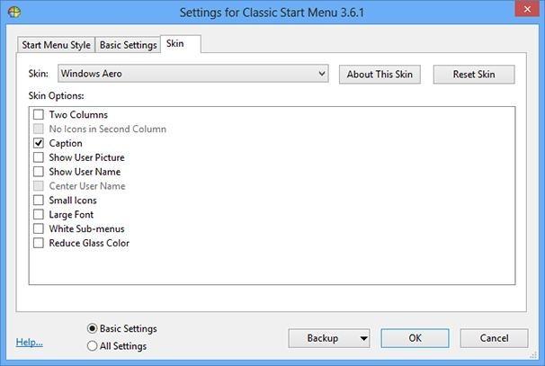 Classic Shell pro Windows 8