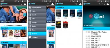 Mobilní aplikace služby Voyo pro Android.