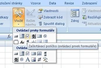 Zaškrtávací pole v Excelu