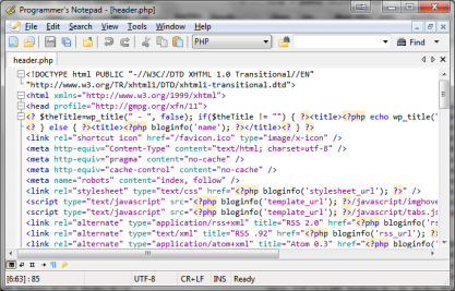 Programmer's Notepad je pokročilý textový editor
