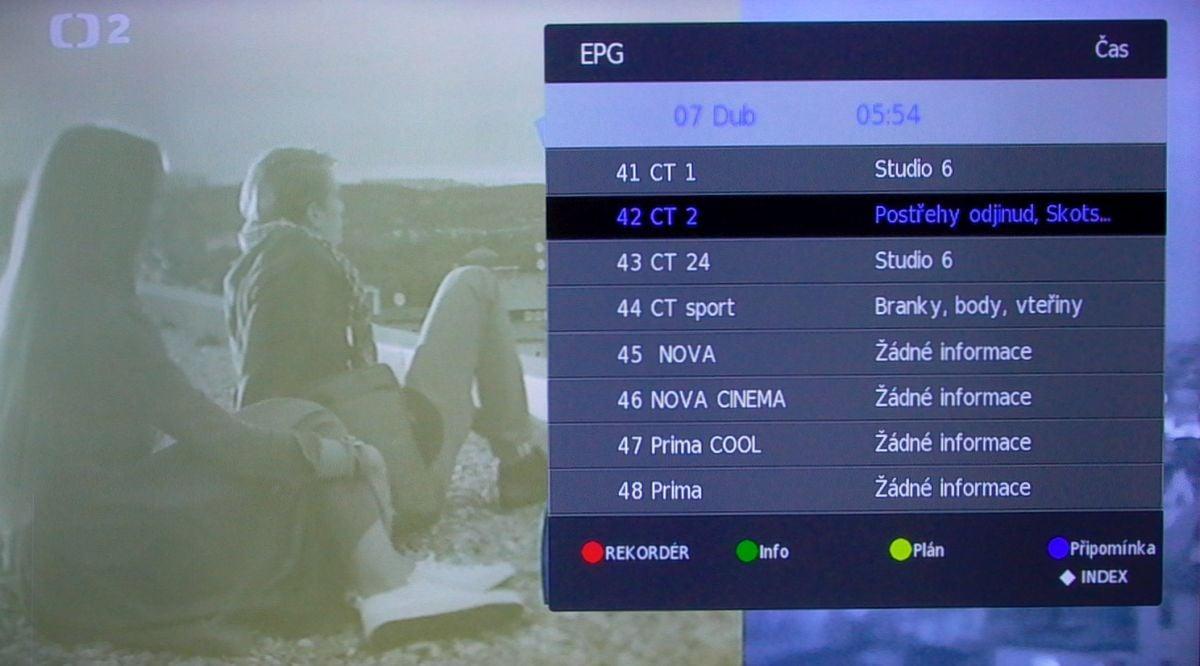 Sencor SLE 43F58TCS - EPG