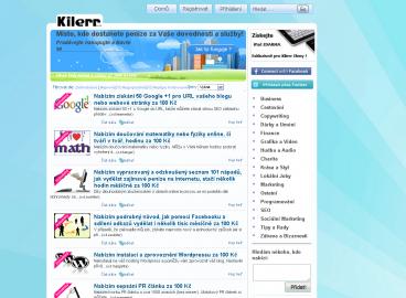 Titulní stránka Kilerr.cz nabízí přehled aktuálních mikroprací.