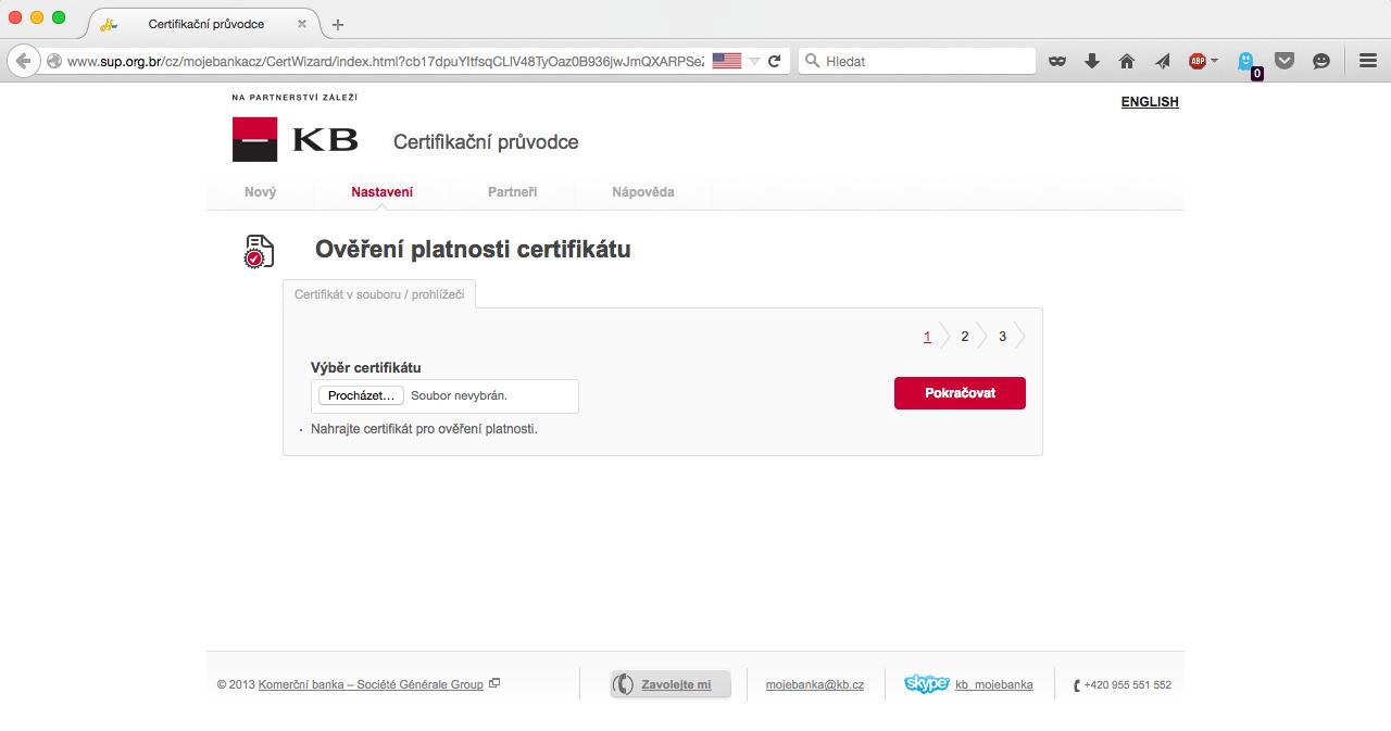 Komerční banka phishing Mojebanka