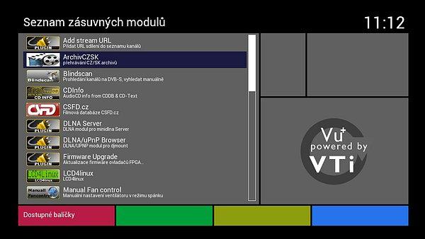 Manuální instalace integrovaného pluginu LCD4linux pro LCD displej. Plugina je už v seznamu k dispozici, viz obrázek