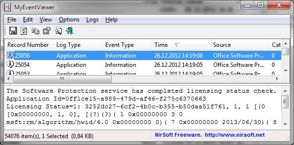 MyEventViewer zobrazí přehledně události z Prohlížeče událostí