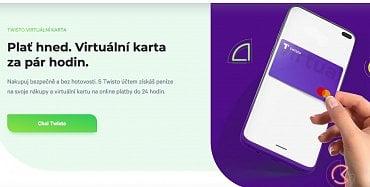 Virtuální karta Twisto. (11.11.2020)