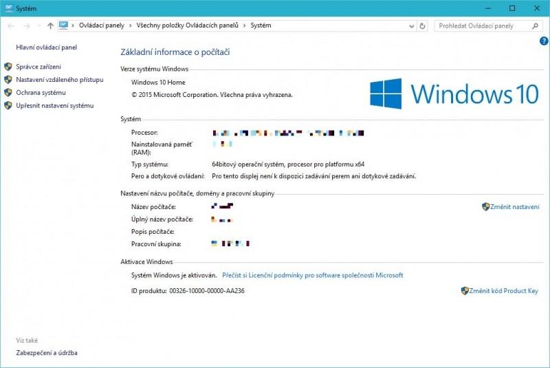 Odkaz Změnit nastavení vás přesune do okna, kde můžete nastavit počítači nějaký výstižnější název