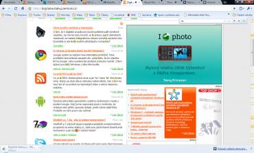 Vyhledávání textu na stránce. Text je zvýrazněn a na svislém posuvníku jsou vytvořeny značky.