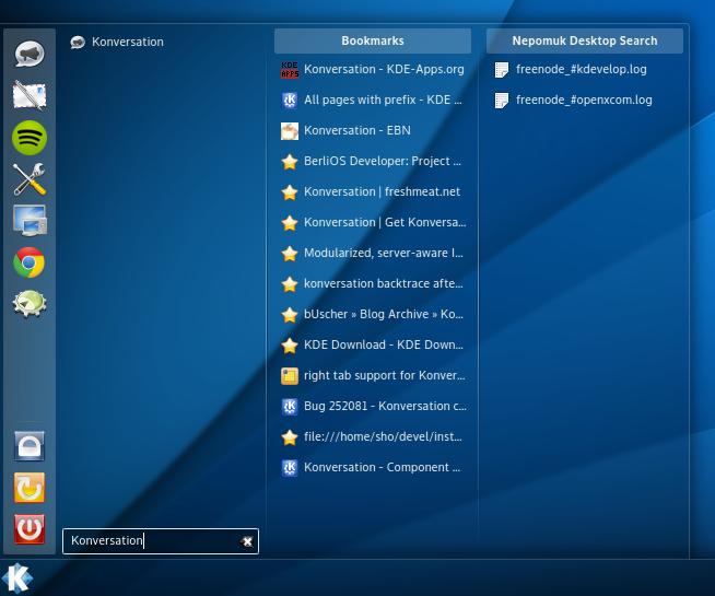 kicker menu KDE