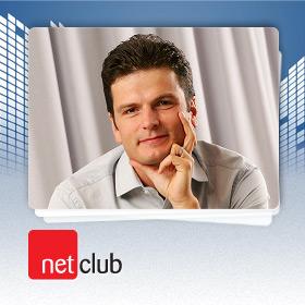 Logo NetClub s Ondřejem Frycem