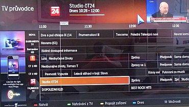 EPG můžete mít dvojí: buď vezmete data z DVB-T/S apod., pak bude bez obrazu a zvuku. Nebo – jako v tomto případě – z internetu, pak ale budete mít potíže s firmwarem, protože v mém případě například v programové nabídce nefungoval posun o den.