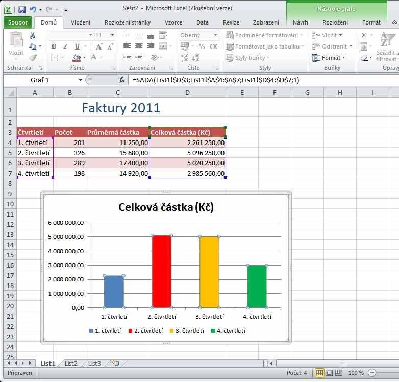 Excel 2010 - formátování dalekých buněk