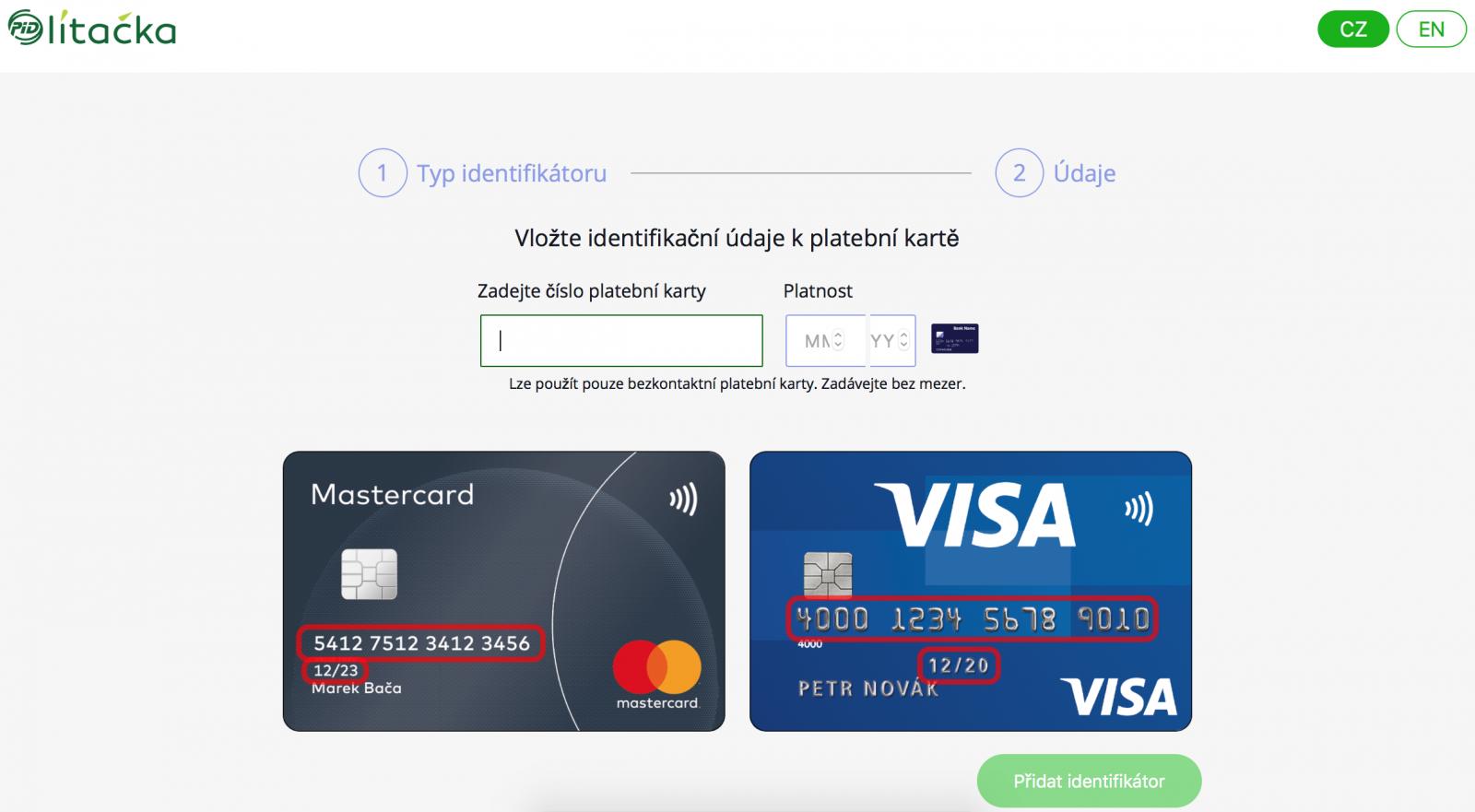 PID Lítačka: Nahrání jízdného na platební kartu