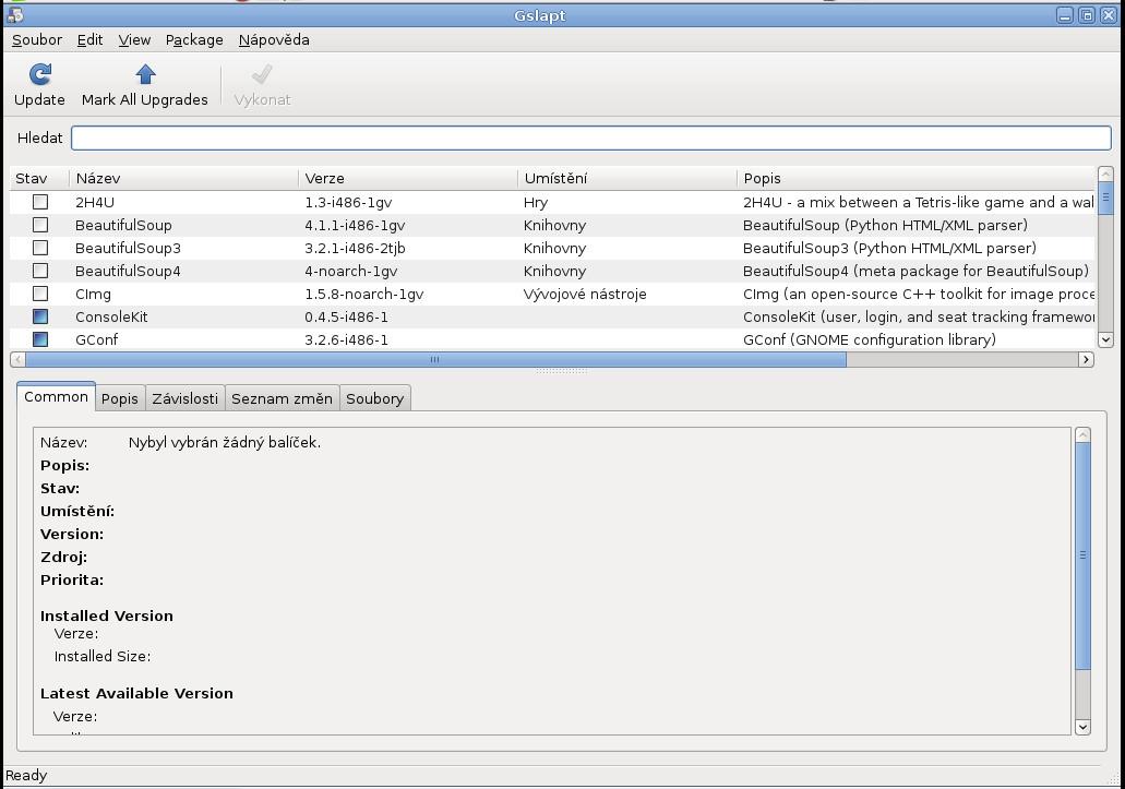 Salix: balíčkovací systém