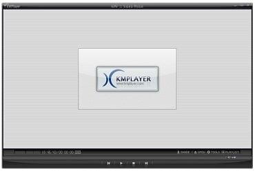 <p>Klasický základní vzhled KMPlayeru</p>
