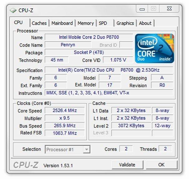 Program CPU-Z je naprosto skvělým nástrojem pro sledování vaší počítačové sestavy. Doporučujeme vám tento nástroj použít při přetaktovávání vašeho počítače pro sledování hodnot napětí a frekvencí.