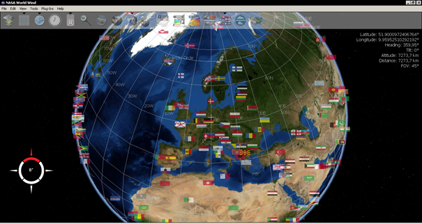 NASA World Wind je konkurent Google Earth