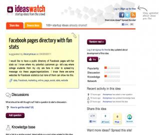 IdeasWatch.com - a už došlo na konkrétní nápad. Co všechno se tu o něm píše?