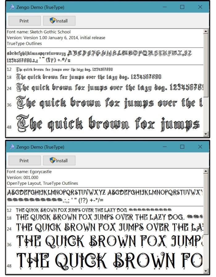 Stažení a instalace fontů