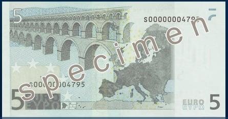eurové bankovky z první série
