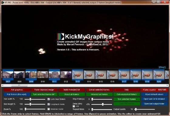 KickMyGraphics převede video do GIF