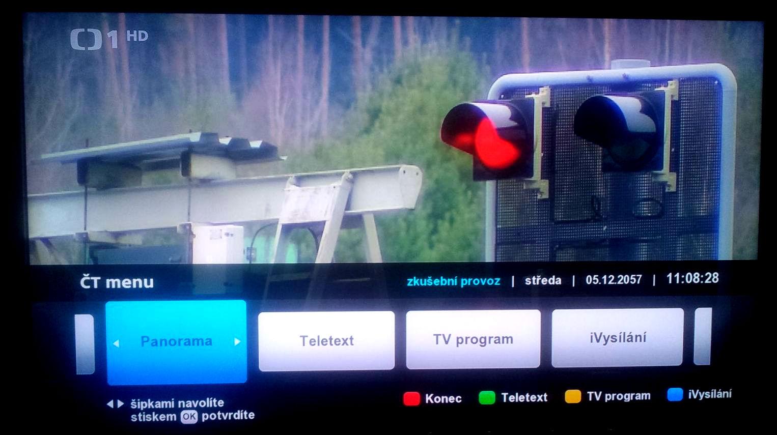 Aplikace Panorama v hybridním vysílání České televize