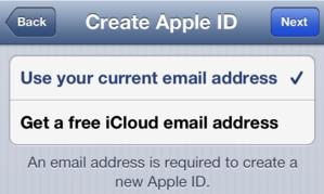 Než začnete: Při zakládání Apple ID můžete použít buď svoji aktuální e-mailovou adresu, nebo si můžete pro tento účel vytvořit novou