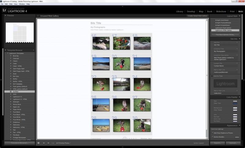 Příprava webové galerie