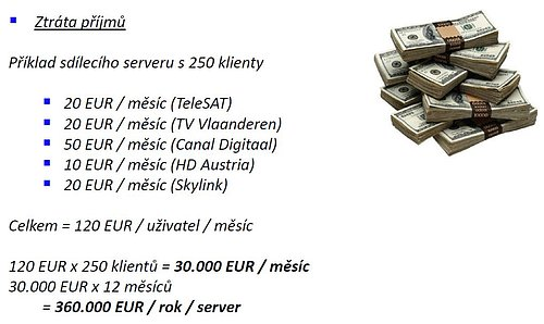 Pirátství je velkým problémem nejen satelitních služeb v Evropě. Takhle ho vidí v číslech provozovatel Skylinku, lucemburská M7 Group.
