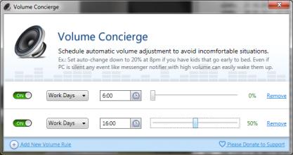 Pomocí Volume Concierge si naplánujete ztlumení hlasitosti