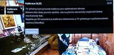 Volba pro kalibraci (vyčištění) panelu OLED. I zde je důležité nechat televizor alespoň 30 minut, spíše hodinu, v pohotovostním režimu a neodpojovat ho fyzicky od 230 V, což zde jde navíc snadno! Z tohoto důvodu také nikdy nekupujte televizor OLED vystavený v obchodě. To byste si museli být hodně jisti, že s ním bylo zacházeno správně, tj. že měl možnost si provést automatickou údržbu.
